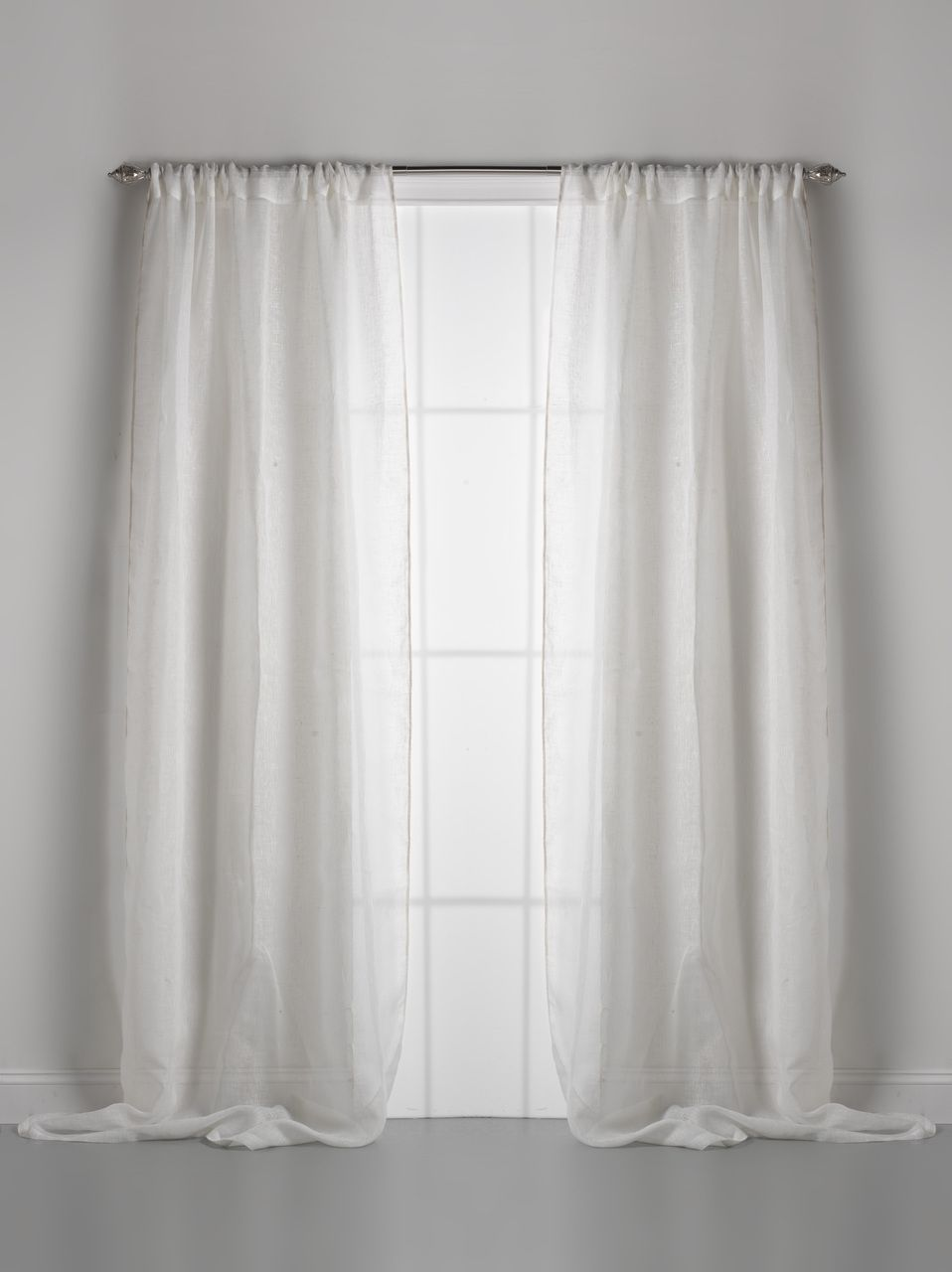 Couture Dreams Solid Linen Gauze Window Curtain