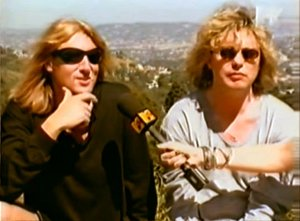 Def Leppard Joe Elliott and Rick Savage MTV Slang interview