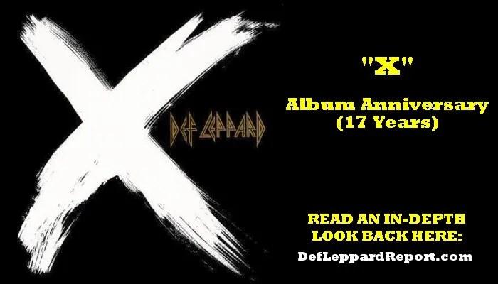 Def Leppard X album anniversary