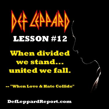 Def Leppard When Love & Hate Collide Lyrics Lesson