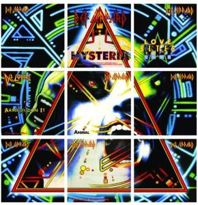 Def Leppard Hysteria cover singles