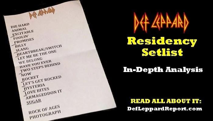 Def Leppard Setlist Analysis
