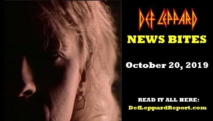 Def Leppard News Bites October 2019
