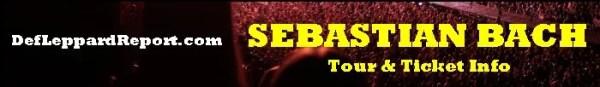 Sebastian Bach tour concert tickets