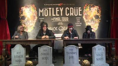 Motley Crue Cessation of Tour press conference