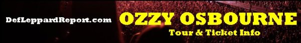 Ozzy Osbourne Tour Tickets