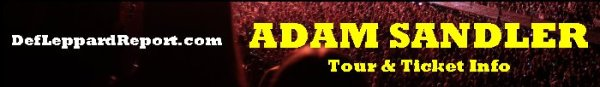 Adam Sandler Tour Tickets