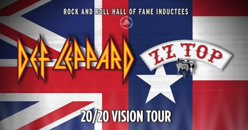 Def Leppard ZZ Top 2020 Vision Tour Banner