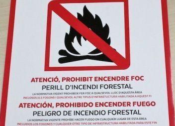 L'1 de maig: Comença la temporada d'alt risc d'incendis forestals