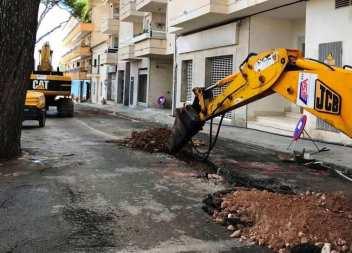Obres de millora i ampliació en el Passeig Marítim de Cala Millor