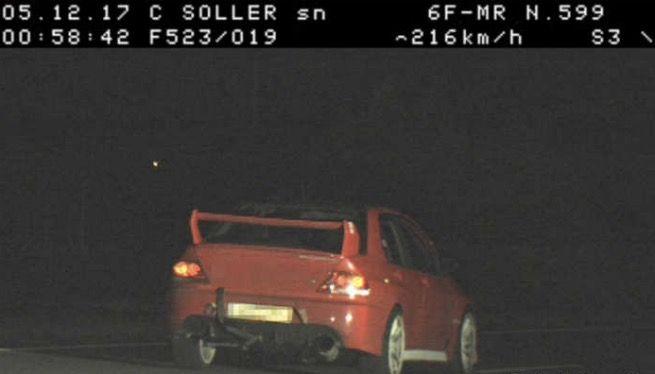 Caçat un conductor a 216 km/h per un tram de la carretera de Sóller