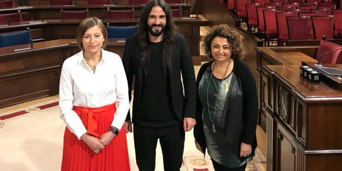 "Picornell a Forcadell: ""Salut i República"""