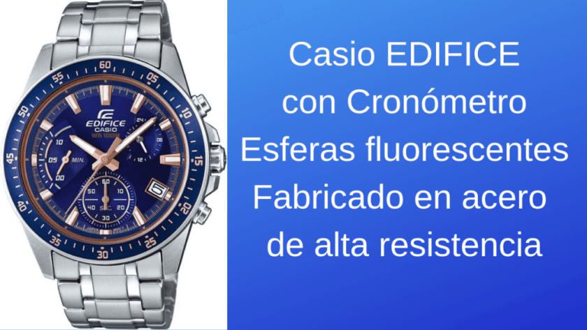 Casio EDIFICE cronómetro 1024x576 - Reloj Casio Edifice para Hombre