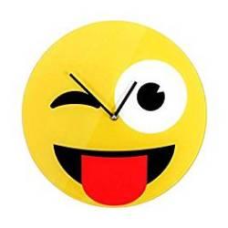 descarga1 - Reloj pared emoticono guiño con lengua fuera