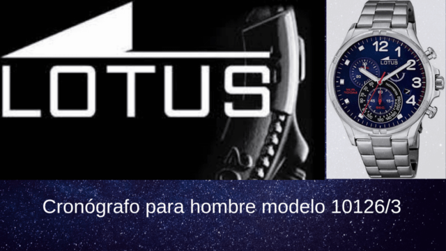 Cronógrafo para hombre modelo 10126 3 1 e1549745802226 - Lotus Reloj Cronógrafo para Hombre 10126/3
