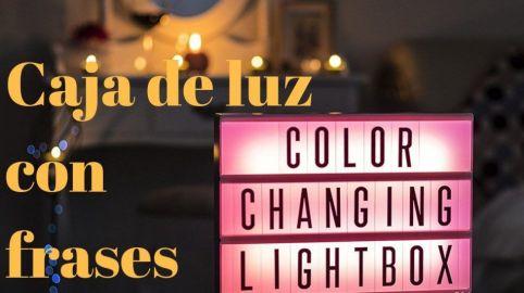 caja de luz con letras