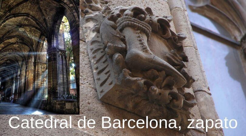 zapato catedral de barcelona