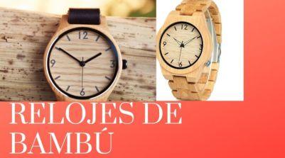 relojes de bambu 300x167 - Relojes de frases de la vida, relojes con frases