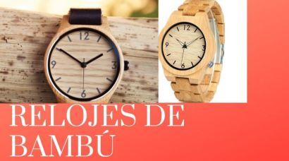 reloj bambu