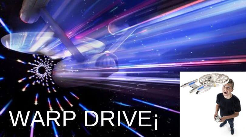 warp drive - Enterprise nave radio control Air Hogs