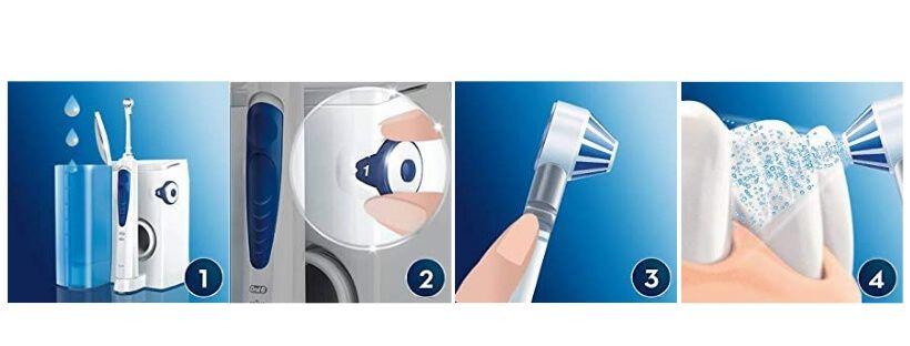como utilizar el oral b oxijet
