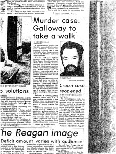 newspaper article with Galloway dismissal