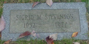 Sigrid Stevenson's grave