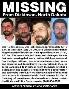 Eric Haider FB Missing Poster