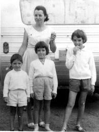 Gone for 50 years: Jane, Grant & Arnna with mom Nancy