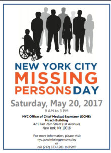 New York City Missing Persons Day