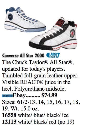 448302196d0c Converse DR J All Star Basketball Shoe 2000 1997   DeFY. New York ...