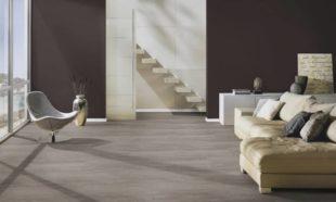 De Graaf Vlaardingen (nabij Rotterdam) PVC vloer, Cement Tokyo bruin grijs