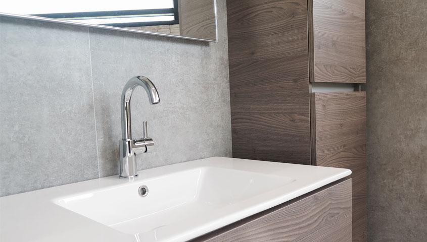 Badkamer Opknappen Low Budget. Great Landelijk Betonverf Badkamer ...