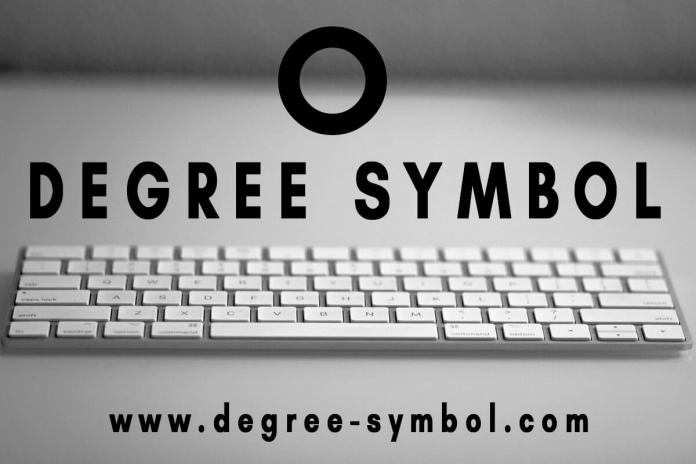 Degree Symbol How To Type The Degree Sign