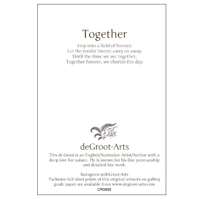 Together - Keepsake Cards by deGroot-Arts, the perfect gift.