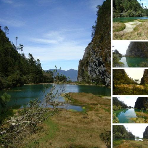 Laguna Magdalena ubicada en Chiantla, Huehuetenango, Guatemala.