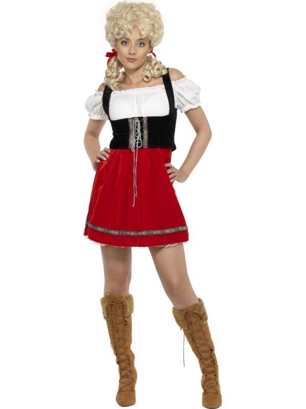 D 233 Guisement De Bavaroise Costume Femme Allemande