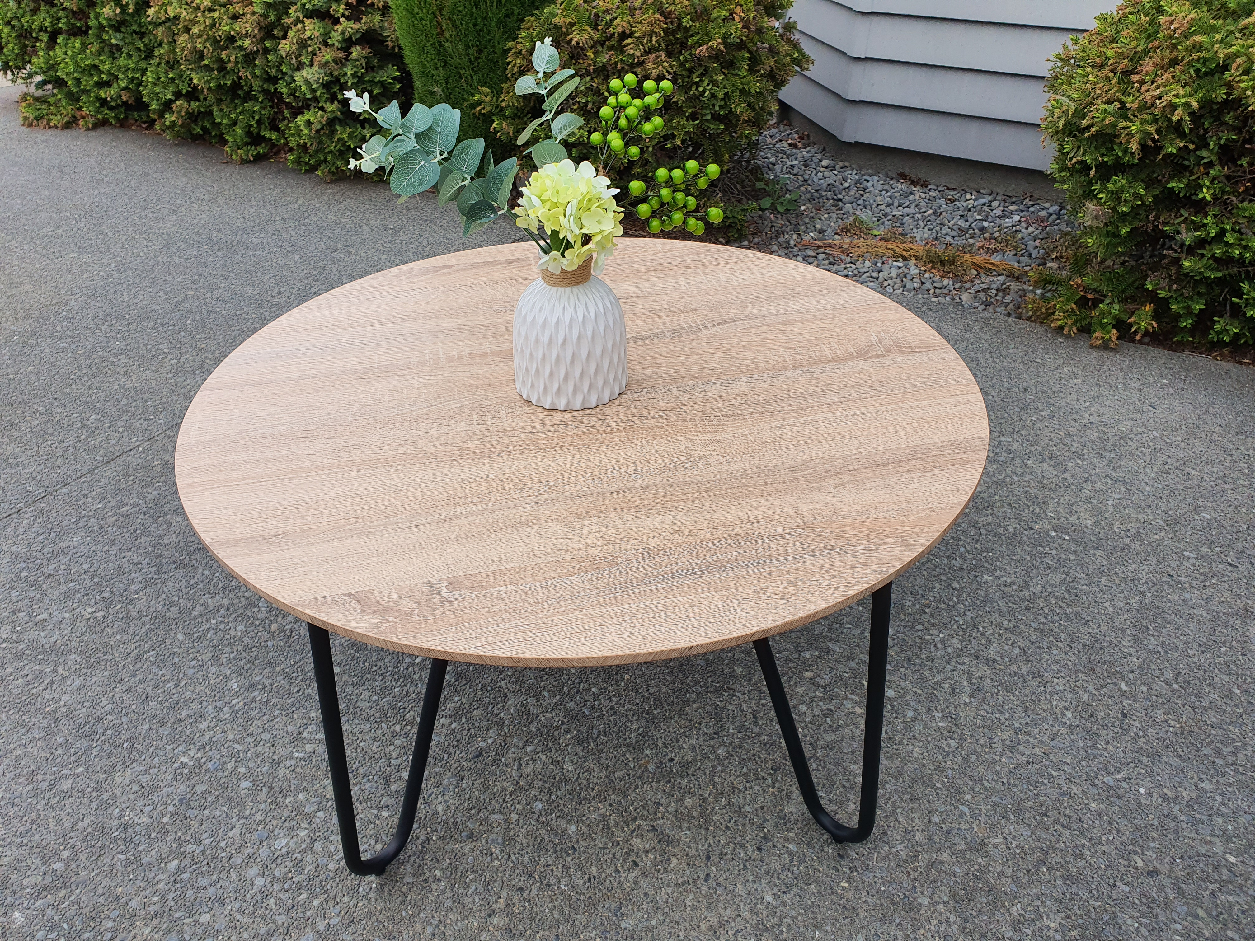 800mm round coffee table with metal legs dehome furniture