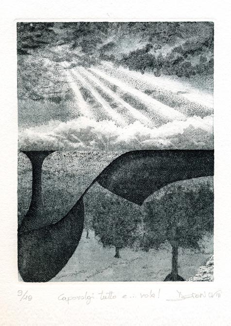 Arcano XII Calcografia, Acquaforte, Acquatinta, Engraving, Etching, Aquatint, Chalcography
