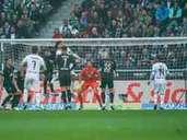 Werder Bremen against Borussia MOnchengladbach