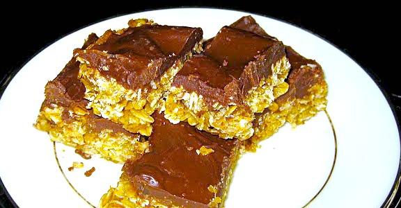 Chocolate Peanut Butter Oatmeal Bars