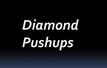 Diamond Pushups