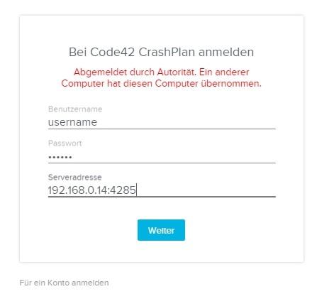 code42-client-app-anmeldung