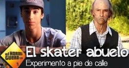 profi skateboarder verkleidet si