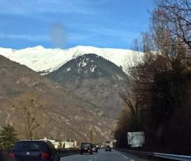 Auf der Hinreise, endlich weiße Berge :-)