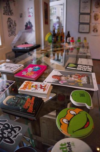 Street Toons Exhibition at hatch Stickermuseum