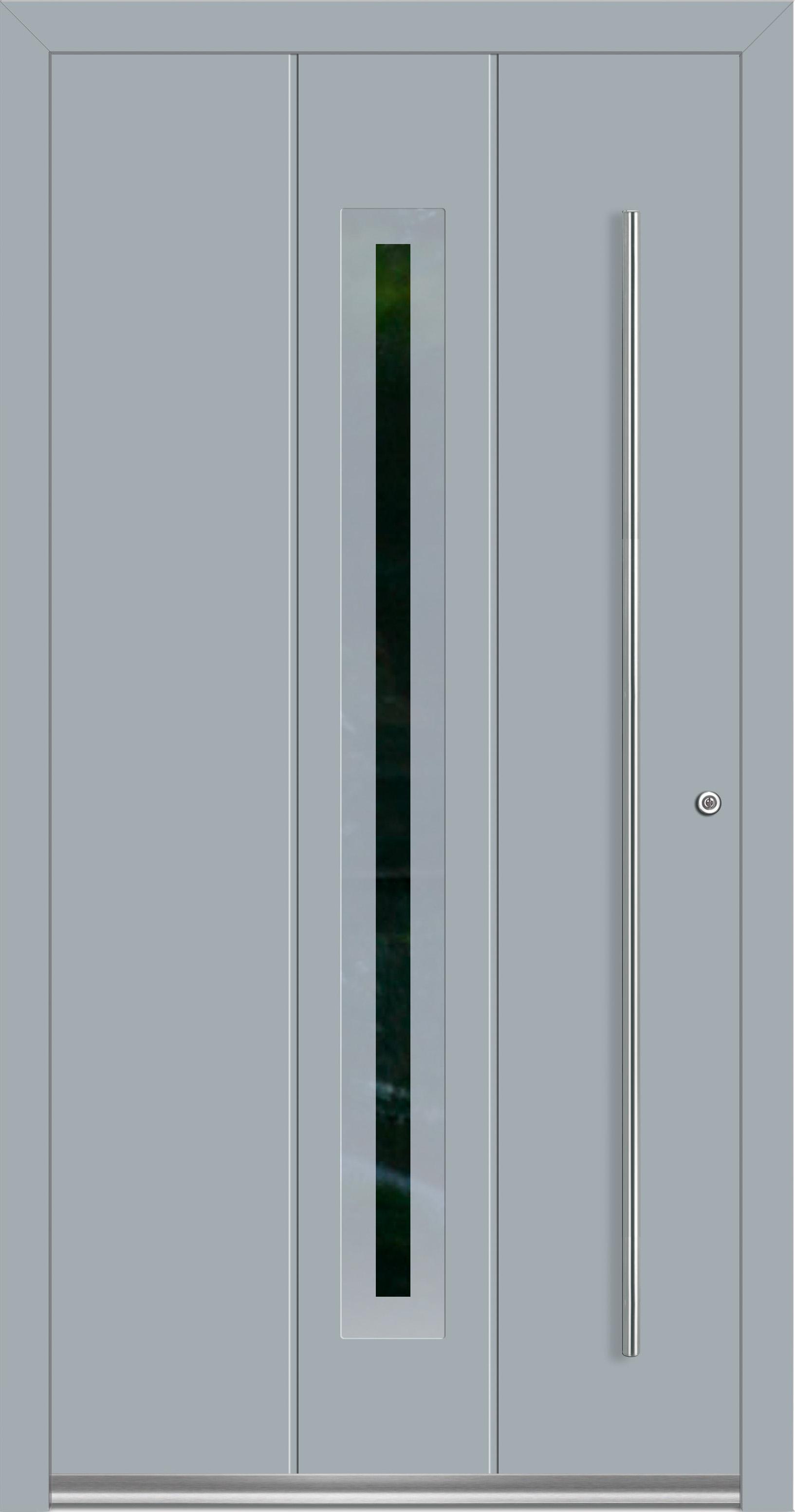 Rocket 5 Aluminium Haustur Mit Glasausschnitt