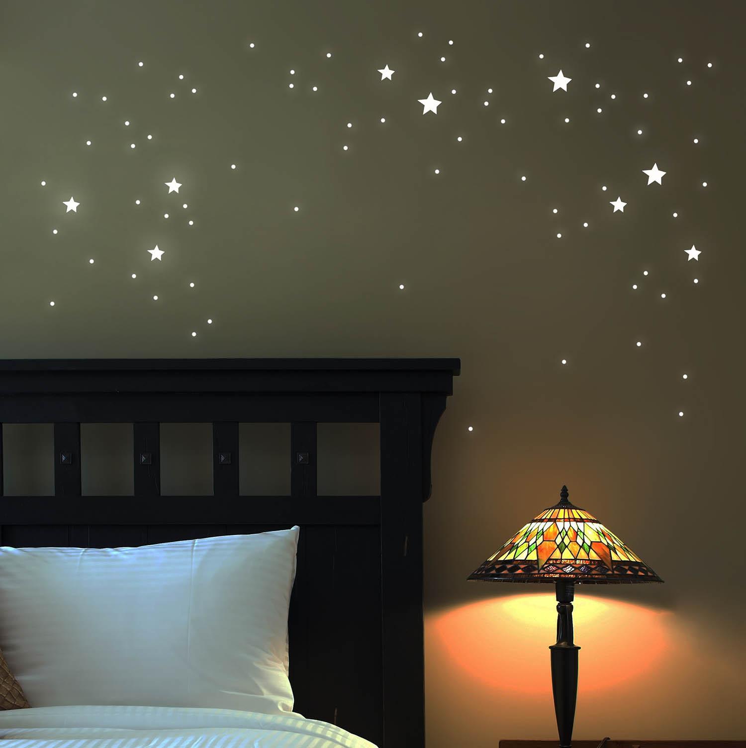 Wandtattoo Leuchtsterne Leuchtende Sterne Punkte