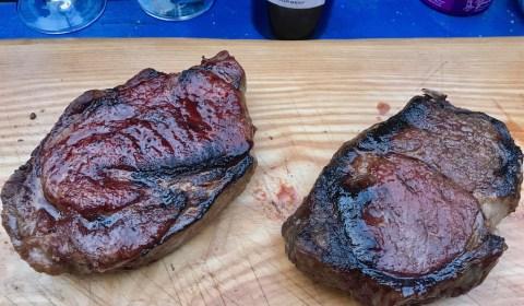 Wet Aged und Dry Aged Rib Eye Steak