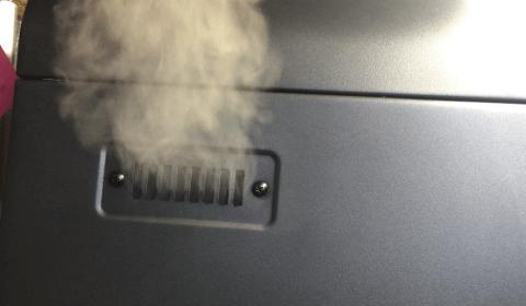 entweichender Rauch beim Smoken
